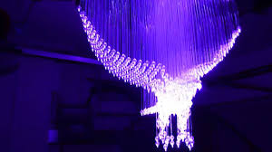 fibre optic and crystal eagle chandelier