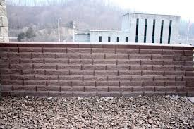 Small Picture Hollow concrete block for retaining walls exposed 450 FULL