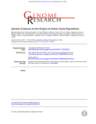Genetic Evidence on the Origins of Indian Caste Populations
