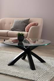 oak and glass coffee table from the