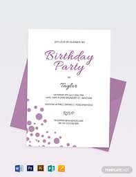 Word Template For Birthday Invitation 34 Birthday Invitation Format Templates Word Psd Ai