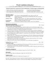 Sample Help Desk Support Resume Help Deskian Resume It Job Description Senior Entry Level