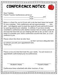 parent teacher conference letter to parents examples picture perfect parent teacher conferences