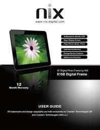 x15b user manual 120405 v2 pdf nix digital frames