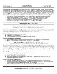 Medical Sales Representative Resume Objective Sidemcicek Com