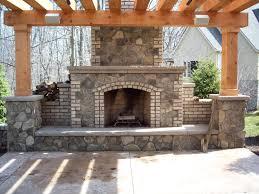 outside brick fireplace designs