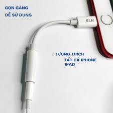 Jack chuyển tai nghe Lightning ra chân tròn 3.5mm tương thích iphone 5 6 7  x 11 kết nối Bluetooth hỗ trợ mic chính hãng 39,000đ