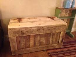 Chest Trunk Blanket Box <b>Storage Box</b>, Ottoman <b>Reclaimed</b> Pallet ...
