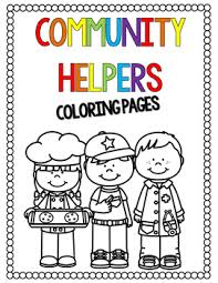 Community Helpers Coloring Pages By Countless Smart Cookies Tpt