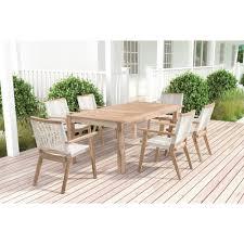 whitewash outdoor furniture. Zuo Modern Westport Patio Dining Set Whitewash Teak 703746-PDS-S2 Outdoor Furniture C