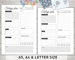 plan daily schedule daily planner printable todays plan daily