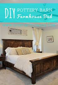 farmhouse bed frame. Exellent Farmhouse DIY Pottery Barn Farmhouse Bed  Easy Plan And Cost Less Than 200 To Build   DIYstinctlyMadecom Diy Potterybarn Farmhouse In Frame B