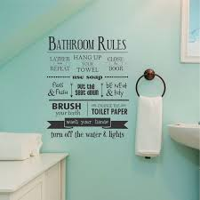 Accessories for bathroom decoration using bathroom rule funny