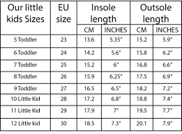 Little Kid Big Kid Shoe Size Chart Sizing Kids Twins Shoes George Georgette