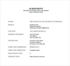 Simple Contractor Agreement Template Simple Contract Template Printable Free Contractor Agreement