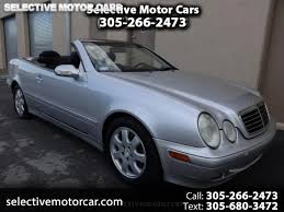 Find mercedes benz clk class convertibles for sale on oodle classifieds. Used 2002 Mercedes Benz Clk Class Clk320 Cabriolet For Sale In Miami Fl 33144 Selective Motor Cars