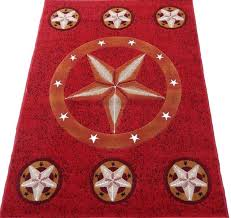 texas star cowboy western 6x8 area rug red beige carpet actual size 5 2 x