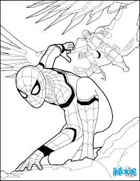 Spiderman coloring page from the new Spiderman movie Homecoming ...