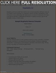 How To Write A Hospitality Resume Resume Template