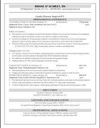 Resume Registered Nurse Example Rn Template Wordensed Practical