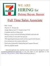 Soon To Open... We Are Hiring For 7... - 7 Eleven Dulong Bayan ...