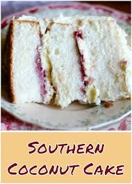 Southern Coconut Cake Almond Cream Cake Recipe From Scratch White