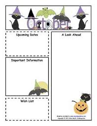 october newsletter ideas october monthly newsletter template customizable kindergarten