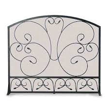 country scroll fireplace screen black northline express