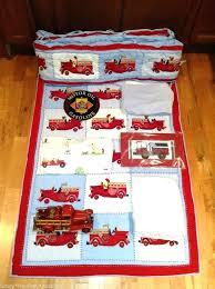 fire truck sheet pottery barn crib bedding set quilt per cake mesh