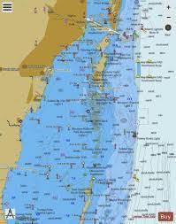 Intracoastal Waterway Nautical Charts Intracoastal Waterway Miami To Elliott Key Marine Chart