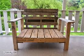 using pallets to make furniture. Pallet Wood Patio Chair Build Via Funky Junk Interiors Using Pallets To Make Furniture