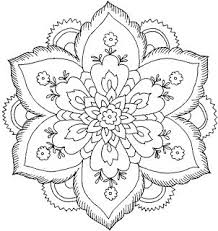 Small Picture Hard Flower Coloring Pages Flower Coloring Page Mandala