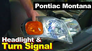 2003 Pontiac Montana Headlight And Turn Signal Light - YouTube