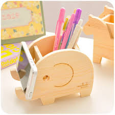 Animal Cute Wood Pencil Holder For Pens Office Wooden Desk Organizer For  Pens And Pencils