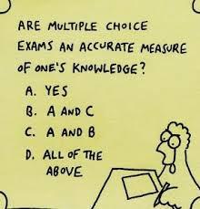 Resultado de imagen de multiple choice test