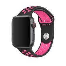 Apple 44mm Black Pink Blast Nike Sport Band For Apple Watch S M M L