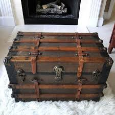 leather steamer trunk coffee table reserved for eric antique steamer trunk coffee table flat