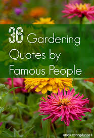 gardening es from famous people