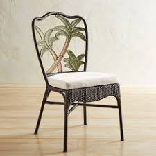 palm tree woven dining chair