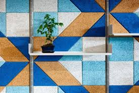 combined office interiors. Modren Combined Combined Office Interiors Baux Acoustic Tiles With Vitsoe  Shelving To Create A Bold And Throughout Combined Office Interiors