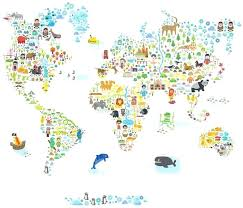large world map wall decal pop and medium iconic cultural world map wall decals wall