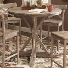 largo callista rustic casual round counter height pedestal table picturesque 36 inch