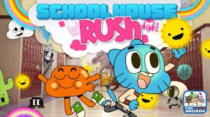 the amazing world of gumball house rush level 1 hallway cartoon network games you