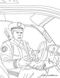 Small Picture Policeman in his police car coloring pages Hellokidscom