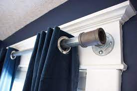 curtain rod from an industrial pipe