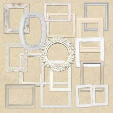 shabby chic white wooden frames clipart for sbooking crafts invitations digital sbooking commercial use