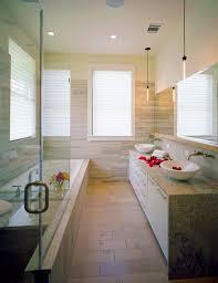 Bathroom Contemporary Bathroom Narrow Spa Feel Ideas Long Space