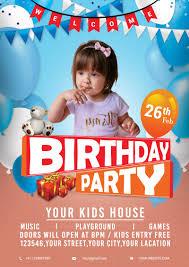 Birthday Flyers Birthday Party Flyer Psddaddy Com