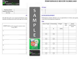 employee performance scorecard template excel human resources templates construction templates
