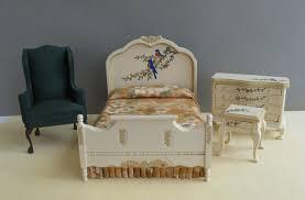 Miniature Dollhouse Bedroom Furniture Bedroom Furniture Acd Miniatures Fine Hand Painted Dollhouse
